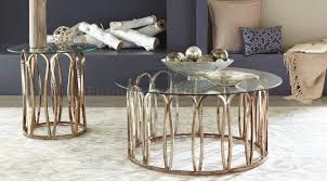 Elegant black & chrome round coffee table. 708058 Coaster Chocolate Chrome Coffee Table
