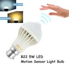 Motion Sensor Light Bulb Candelabra B22 Led Motion Sensor Light Bulb 5w Bayonet B22 With 50w