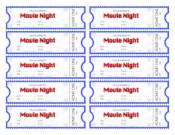Printable Movie Ticket Template Vastuuonminun