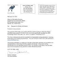 2014 Zoning Verification Letter 4656 Rockbridge Rd By Pine Lake