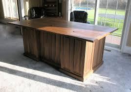 custom wood office furniture. Custom Made Executive Desk In Walnut. Wood Office Furniture K