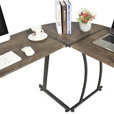 table office desk. GreenForest Office Desk L-Shape Corner Computer PC Table Workstation 3-Piece For Home,Switch 2 Sides