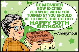 Funny Fiftieth Birthday Quotes