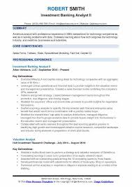 Private Equity Resume Extraordinary Investment Banking Analyst Resume Samples QwikResume