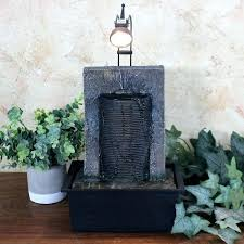 tabletop water garden resin fountain ancient wall with light repair diy g
