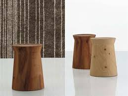 round solid wood coffee table dama by