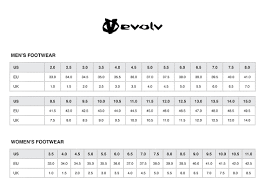 Evolv Shoe Size Chart Evolv Ms Cruzer Classic Approach Shoes Climb On Squamish