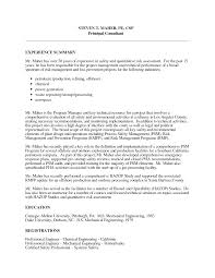 Best Photos Of Safety Professional Resume Examples Safety Manager