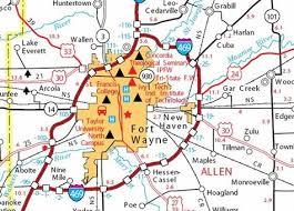 map of ft wayne indiana indiana map Ft Wayne Indiana Map fort wayne indiana city maps at americanroads com 2017 fort wayne indiana map