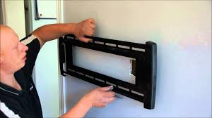 how to install tv mount. Exellent Install How To Install A TV Installing And Mounting The Bracket Part 3   YouTube In To Install Tv Mount