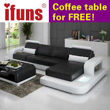 IFUNS Unique Leather Sofa Living Room Sofa Set Modern design
