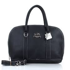 Coach Madison Logo Medium Black Satchels ETC