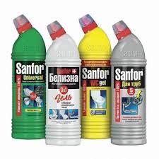 Промонабор: <b>чистящие</b> средства 4 шт. по 500 мл, SANFOR ...