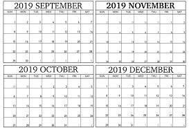 Calendar Free 2019 Word Calendar 2019 10 21