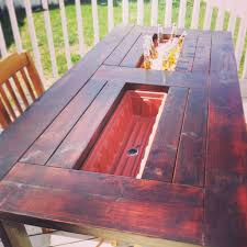 Table Drinks Cooler Timelessly Marvelously Functional And Easy Diy Picnic Table Ideas