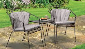 two henley round back chairs in iron grey from the kettler at john lewis garden furniture