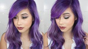 Purple Hair Style how to strip hair color touch up roots dye your hair purple 5881 by wearticles.com