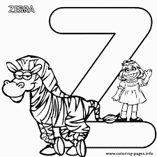 Small Picture sesame street z for zebra alphabet s3595 Coloring pages Printable