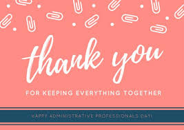 Administative Day White And Orange Paperclips Administrative Professionals Day