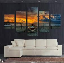 Modern Painting For Living Room Unframed Large Hd Seascape With Ship Painting Top Rated Canvas