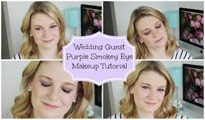 purple smoky eye wedding guest makeup tutorial
