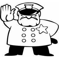 Disegno Di Poliziotto A Colori Per Bambini