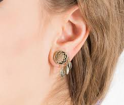 Dream Catcher Gauges Dreamcatcher Gauge Earrings Brass Plug Earrings Stretchers 2