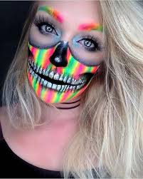 vibrant skull makeup for unique makeup ideas to try
