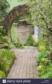 The Kitchen Garden Circular Brick Built Entrance Into The Kitchen Garden At The Top
