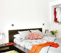 gray and orange bedroom. 6-bright bedroom gray and orange