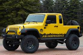 but my favorite way to get a jeep pickup in 2012 is the brute from american expedition vehicles they are taking the four door wrangler unlimited and