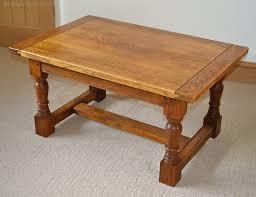 mid century english oak coffee table