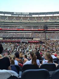 Metlife Seating Chart One Direction Metlife Stadium Section 139 Row 6 One Direction Tour