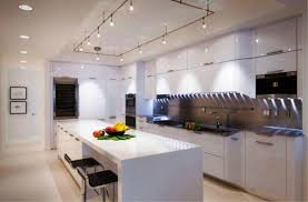image of modern track lighting kitchen ideas