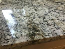 removing stain from granite it really looks like rust stains has anyone seen this in white ice maybe its defected piece then it will be a fight with the