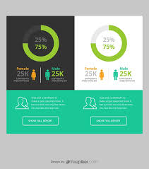 Freepiker Responsive Pie Chart Infographic Ui Ux With