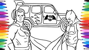 Batman, the popular fictional character and comic book … Batman And Superman Car Coloring Pages Superheroes Jeep Car Car Coloring Video For Kids Youtube