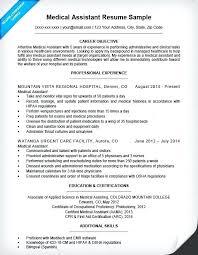 Medical Assistant Resume Entry Level Medical Assistant Resume