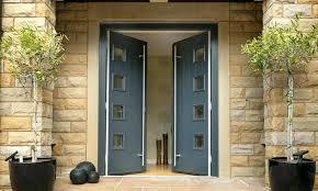 double back doors double doors with glass above