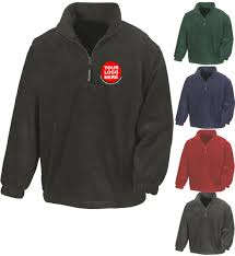 Design Your Fleece Bespoke Embroidered Zip Neck Fleece Create Your Own Design