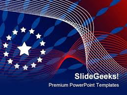 Patriotic Abstract Background Powerpoint Templates And Powerpoint