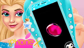 create an iphone x with queen elsa