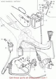 Honda ss50z k1 austria wire harness battery parts list partsfiche