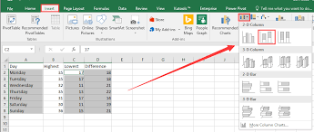 How To Create A Floating Column Chart In Excel