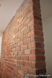 turn a plain wall into a brick wall
