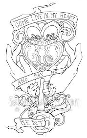 We have collected 40+ tattoo coloring page printable images of various designs for you to color. Pin By Lindsey Evans On Coloring Pages Coloring Pages Coloring Books Printable Coloring Pages
