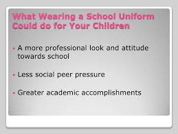 school uniforms 6 what wearing a school uniform