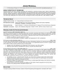 Innovative Decoration Computer Technician Resume Download Computer