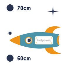 Space Height Chart Animals Cute Boys Girls Growth Ruler Print Name Nursery Kids Bedroom Removable Vinyl Wall Sticker