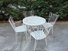 mid century garden chairs and table set